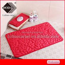 Plain color NEW Anti-slip PVC backing memory foam floor mat