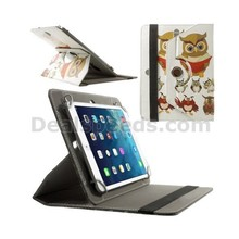 Universal Leather Cover for Tab,Rotary Stand Shell for iPad mini 2 3 / Samsung Galaxy Tab 4 8.0 T330 etc, Size: 21.5 x 14cm