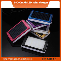 Colorful Large Capacity Solar universal Power Bank 15000mah with promotion price