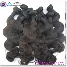 Factory sale on stock double weft no tangle no shedding virgin remy genuine brazilian hair extension