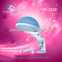 Portable o3 ozone facial and hair steamer for hot use