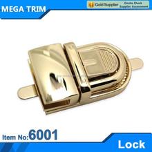 High quality gold metal handbag making accessories lock
