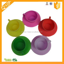 Lovely Color Portable and Durable Non Sticky Silicone Cupcake Molds