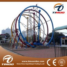 Cheap recreation 360 degrees games!!! new amusement rides ferris ring car thrill rides for sale
