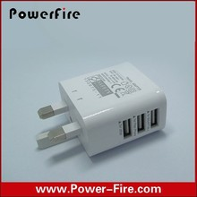 Wholesale 3 USB us/eu Charger, 3.1A home/wall charger For iPad For iPhone For Samsung