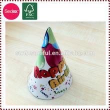 Niños artículos de cumpleaños sombrero de papel para decoración de cumpleaños