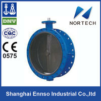 2014 Double Flange exhaust shouldered butterfly valve