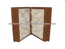 High End Book Shape Leather Coin Box