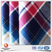 wholesale 100% cotton plaid flannel fabric for pajama