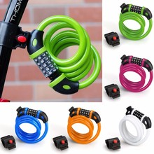 New Bicycle Bike Cycling Security 5 Digit Combination Cable Lock For Bikes SV022508