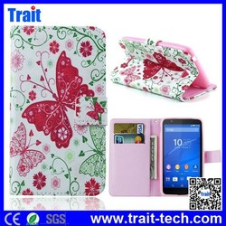 High Quality Wallet PU Leather Flip Case Cover for sony xperia E4 E2003,leather case for sony xperia e