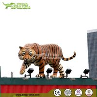Outdoor Decoration Fiberglass Life Size Tiger Animal Statues