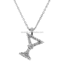 Comparable To Sex and the City CZ Martini Necklace - 18 inch CZ Accent Chain