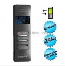 Portable telephone digital voice recorder,bluetooth wireless voice recording pen