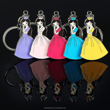 2015 wholesale wedding gift princess key chain enamel key chain character metal key chain