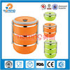 kid round insulated stainless steel lunch box,thermos for hot food/Stainless steel Insulation tiffin lunch box