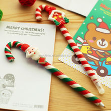 Factory directly sale Korea Stationery Lovely Polymer Clay Pen Fimo Ballpoint Pen Cartoon Creative Santa Claus snowman Ball Pen