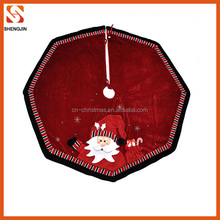 Best selling cheap diameter 120cm christmas tree skirts for christmas tree decoration