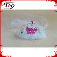 Novelty Hen Party Tiara With White Veils
