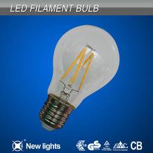 2014 New Hot Sale 4W E27 LED filament Bulb Lamps glass