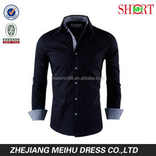 2015 multi color high collar button down slim fit casual shirt for men