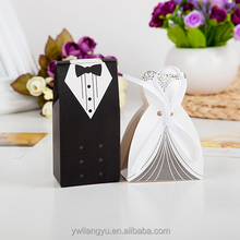 Mini Swallowtail Style Bride and Groom Wedding Favour Party Paper Gift Box & Candy box