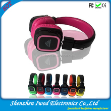 2014 the most powerful headphones rohs branded bluetooth headphones with memory card
