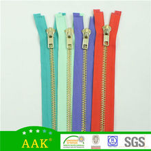 8# brass metal open end wholesale side zippers