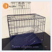 Alliph Brand steel wire dog cage foldaway pet cage