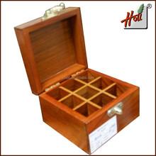 Custom wooden compartment tea storage box HCGB8027