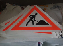 Bn1695 Danger Construction Site No Trespassing Take Responsibility Banner Sign