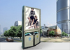 stainless steel rubbish bin with outdoor advertising light box , New media street marketing furniture stainless