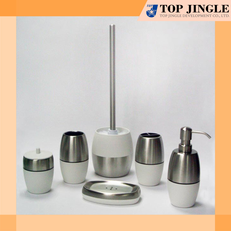High quality unique white stainless bath accessories set for Quality bathroom fittings