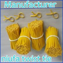 Factory supply single wire plastic twist tie, all colors twist tie, twist tie roll