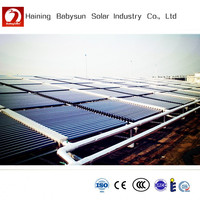 vacuum glass tubes solar water heater, solar collector, solar heating project system for school,hotel,hospital