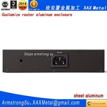 XAX442Alu OEM ODM customized laser cut bend weld sheet aluminum gigabit simultaneous dual band wireless Router box