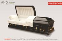 PRESIDENT Mahogany wooden funeral casket satin coffin liner