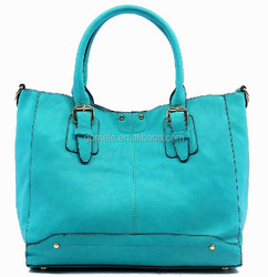 Latest design high quality women leaher tote shopping bag casual women bags
