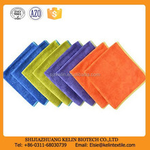 Pumpkin color 350gsm microfiber dusting towel for car wash
