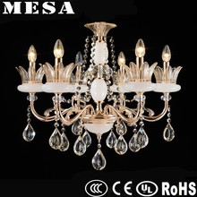 crystal beads glass copper colorful chandelier