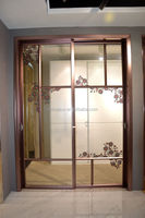 Made in China professional powder coated bullet proof aluminum kitchen security sliding door