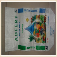 Putty powder PP woven bag with valve port and stitched bottom