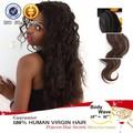 Garantie du commerce étoile noire armure de cheveux tresse, premières naturelles de cheveux humains extension