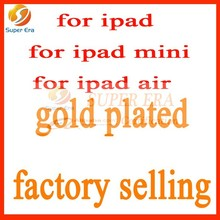 luxury customized rear cover for ipad mini 24k gold housing back cover