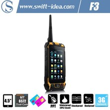 F3 4.5 inch 3G dual sim mobile phone with walkie talkie