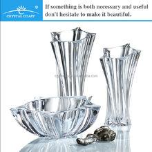 Star shape clear glass Czech Republic Bohemia Crystal Vase
