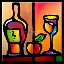 Modern Abstract Wine Glass painting for decoration 57361