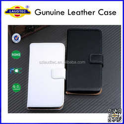 New Genuine Leather Wallet Case Cell Phone Flip Cover for iphone 6 plus Laudtec