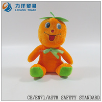 promotional toys/plush fruit and vegetables/ fantastic toys orange fruit doll, Customised toys,CE/ASTM safety stardard