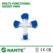 Industrial Plug and Socket Multifunctional 3P, 16A, 32A, IP44 10132,10232
